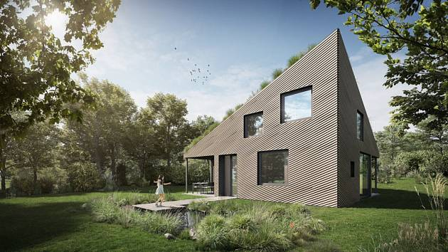 Pasivní dům s loukou na střeše, Babice nad Svitavou.