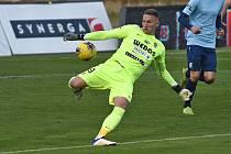 Gólman FC Zbrojovka Brno Jiří Floder.
