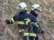 Požár u Oslavan.