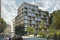 Nový bytový komplex Hvězdová v brněnských Zábrdovicích.