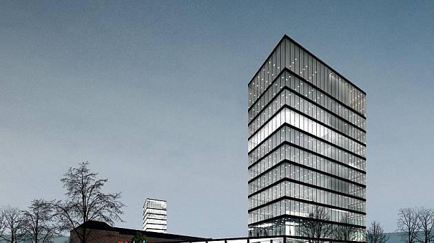 Vizualizace ze studie rekonverze areálu Malá Amerika na Obchodně administrativní centrum a loftové byty.