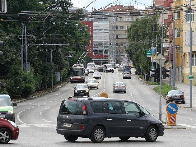 Ulice Pionýrská v Brně.