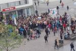 Stávka studentů v Brně za lepší životní prostředí.