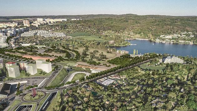 Parky a promenády. Podívejte se, jak si architekti představují okolí silnice X43