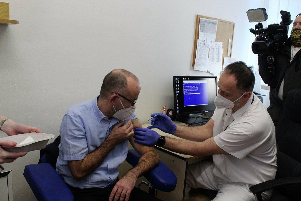 Očkování ve Fakultní nemocnici Brno. Ilustrační foto