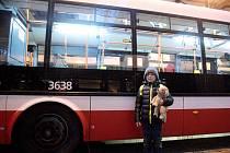 Prohlídka vozovny trolejbusů v brněnských Husovicích.