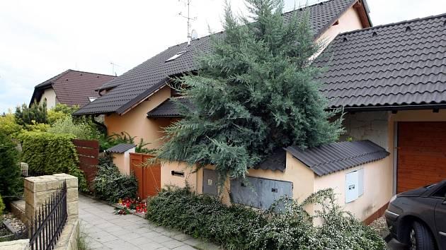 Dům v Brně-Ivanovicích, ve kterém se čtyřnásobná vražda stala.