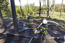 Požár ve Znojmě. Foto: HZS Jihomoravského kraje