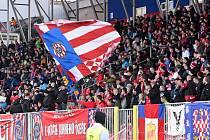 Brno 8.3.2020 - domácí FC Zbrojovka Brno v červeném proti FK Baník Sokolov