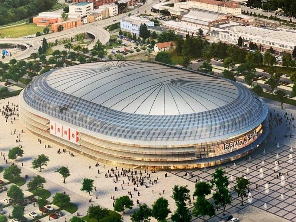 Multifunkční Arena Brno na brněnském výstavišti.