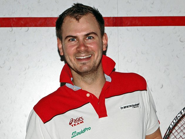 Hlavní trenér a extraligový hráč Squash Klubu Slovan Brno Jan Břeň.