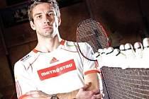 Badmintonista Petr Koukal.