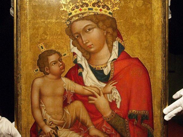 Středověký obraz Madony z Veveří.