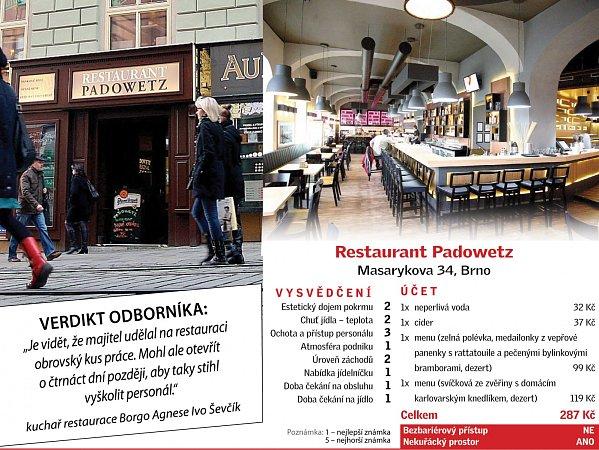 Restaurant Padowetz - hodnocení.
