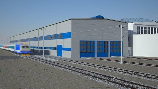 U seřazovacího nádraží v brněnských Maloměřicích vznikne do dvou let nová hala pro opravu vlaků.