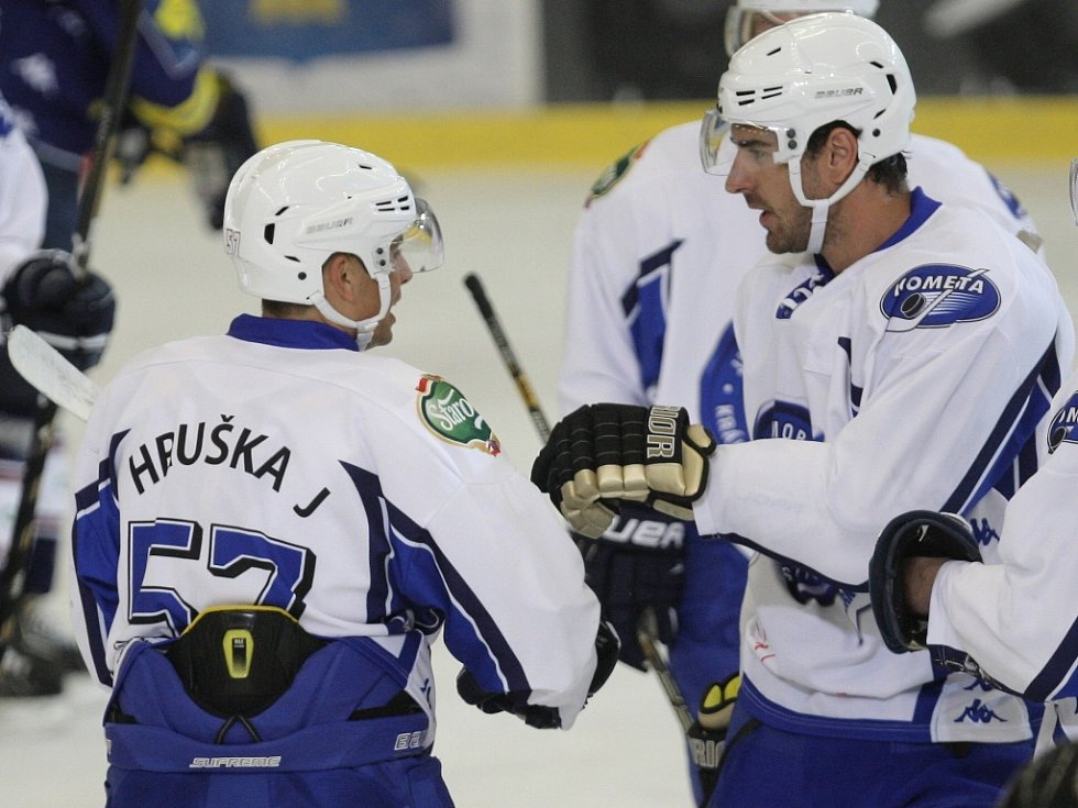 V šestém přípravném duelu si brněnští hokejisté připsali třetí výhru. Extraligového rivala z Vítkovic pokořili 8:2.