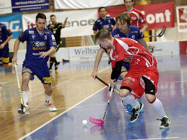 Florbalisté Bulldogs Brno v utkání s Vítkovicemi.