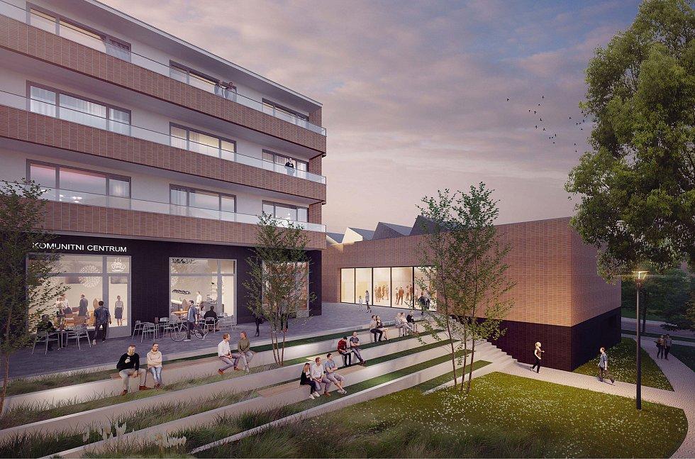 Třetí místo za urbanisticko-architektonický návrh náměstí Míru v Masarykově čtvrti v Brně.