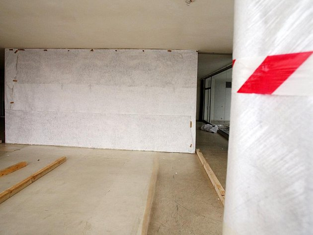 Přípravy na rekontrukci a opravy vily Tugendhat.