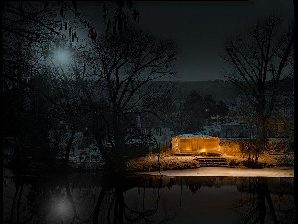 Saunu svýhledem na řeku Svratku chtějí postavit vJundrově.