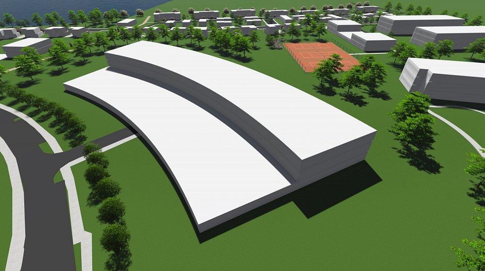 Plánovaný lázeňský komplex v Pasohlávkách. Diagnostické a rehabilitační centrum pro sportovce.