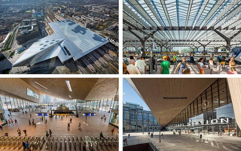 Benthem Crouwel Architects (Amsterdam): Rotterdam hlavní nádraží, Nizozemsko. Vizualizace.