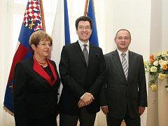 Jihomoravský hejtman Michal Hašek v úterý jednal s americkým velvyslancem v České republice Normanem L. Eisenem.
