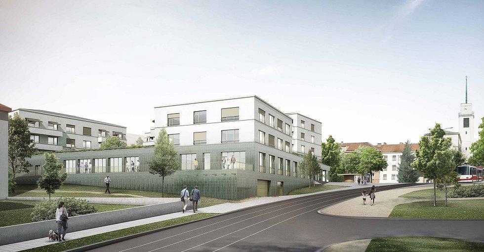 Čtvrté místo za urbanisticko-architektonický návrh náměstí Míru v Masarykově čtvrti v Brně.