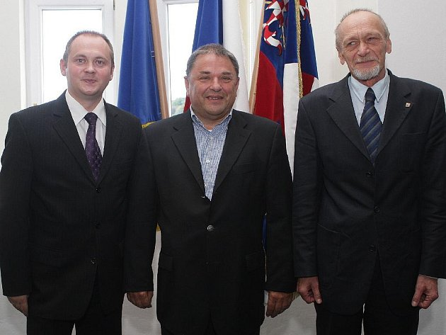 Jiří Škrla, Michal Hašek a Václav Božek.