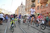 Do brněnských ulic vyjela plejáda hvězd československé cyklistiky.