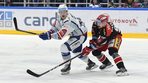 Brno 18.2.2020 - domácí HC Kometa Brno v bílém proti Mountfield Hradec Králové