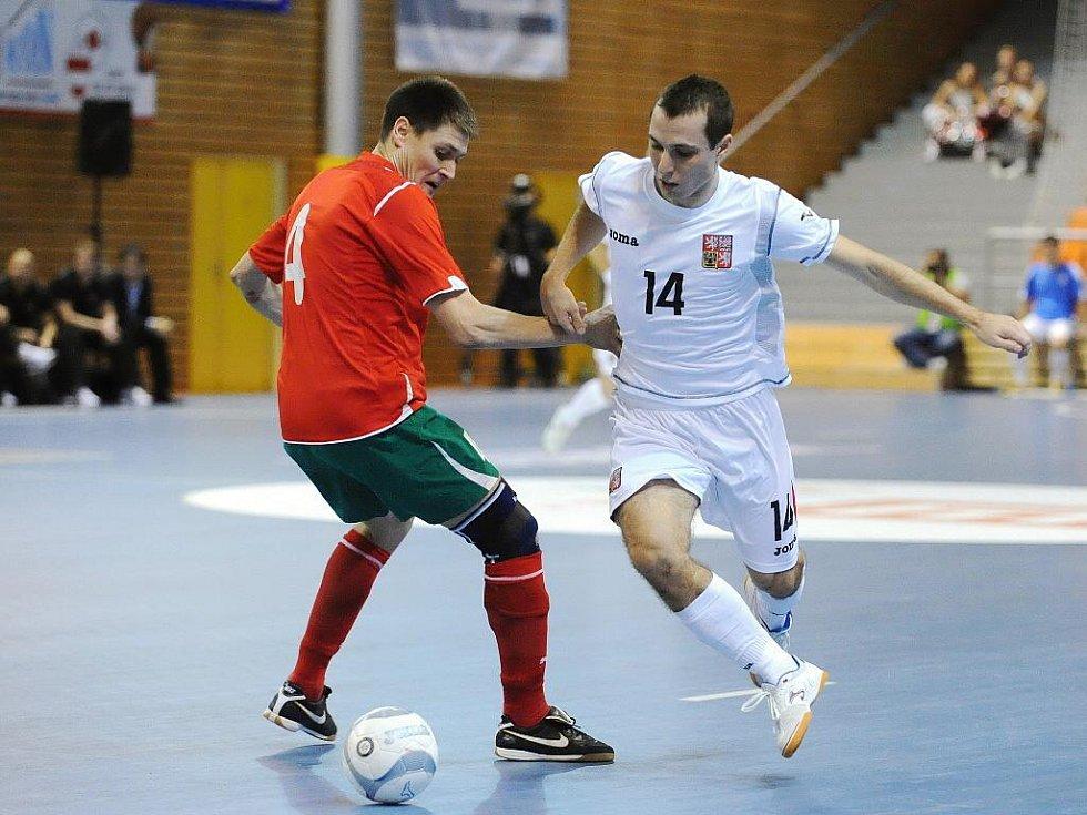 Futsalové utkání Česko – Bělorusko.