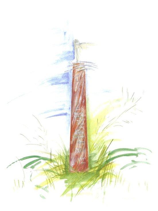 Nákres památníku, který bude symbolem boje proti komunismu.