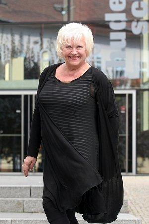 Herečka Zdena Herfortová.