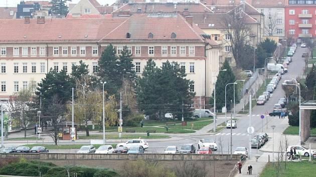 Pohled z Kraví hory na brněnské náměstí Míru.