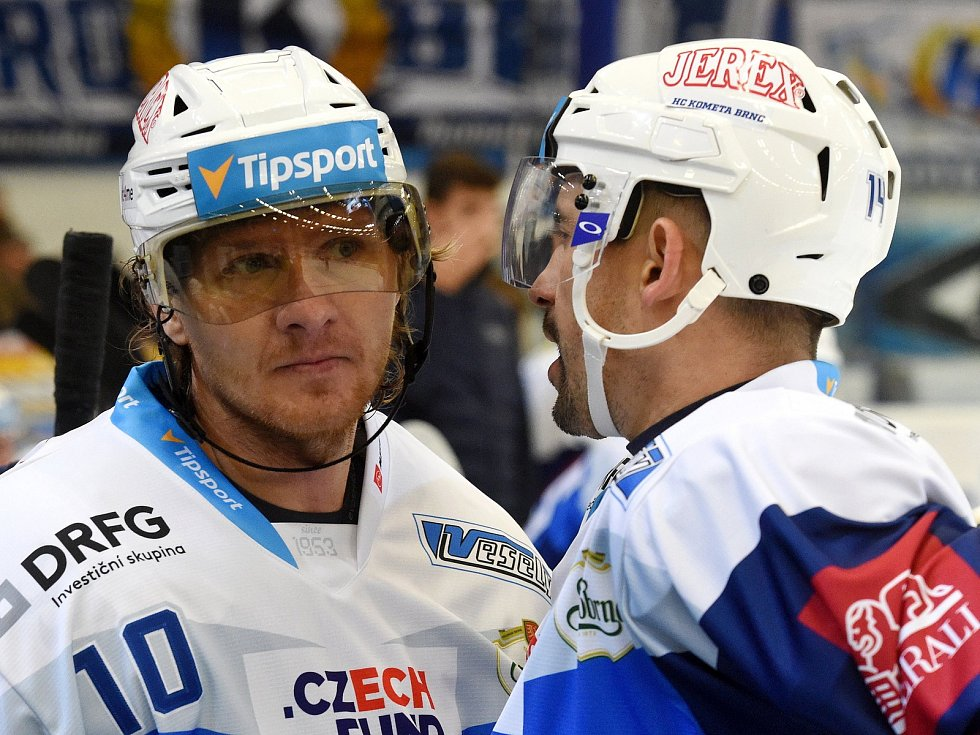 Martin Erat a Tomáš Plekanec společně v dresu Komety.
