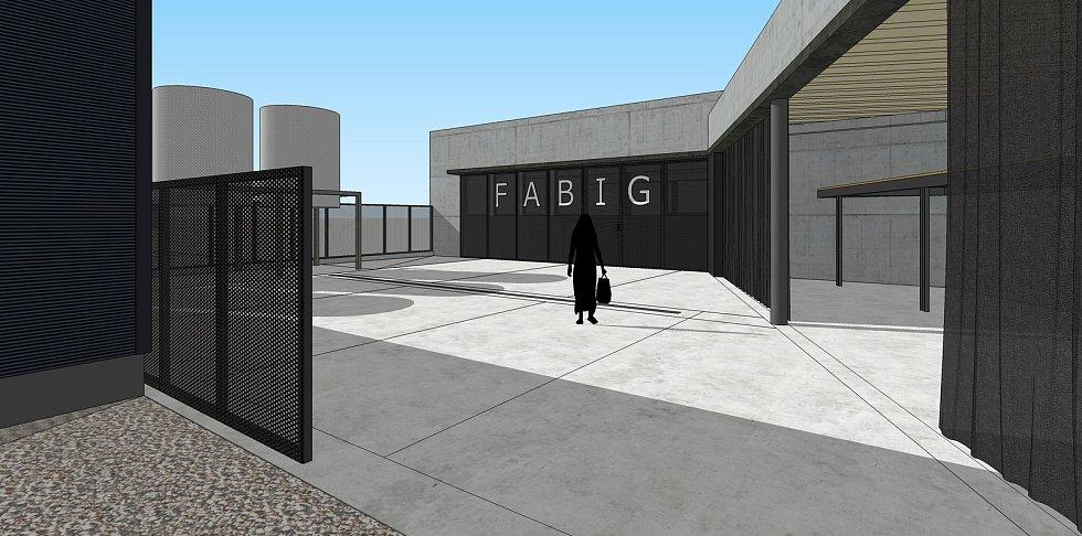Vinařství Fabig rozšiřuje své prostory. Stavba je zasazená do kopce.