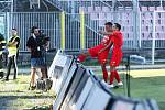 4. kolo FORTUNA:LIGY: FC Zbrojovka Brno (červená) - SK Sigma Olomouc 2:4.
