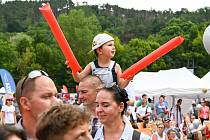 Většinu návštěvníků olympijského festivalu v Brně tvořily děti.