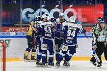 Hokejisté Komety rozdrtili v posledním vzájemném souboji sezony Zlín.