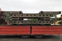 Dva kusy mostní repasované provizorní konstrukce typu MS-60, které v sobotu zloději ukradli z brněnské ulice Trnitá.