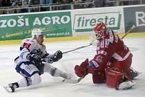 Hokejisté brněnské Komety ve 23. kole extraligy porazili rivala z Třince 3:2 po nájezdech.