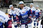 HC Kometa Brno v modrém (Peter Mueller) proti HC Sparta Praha.
