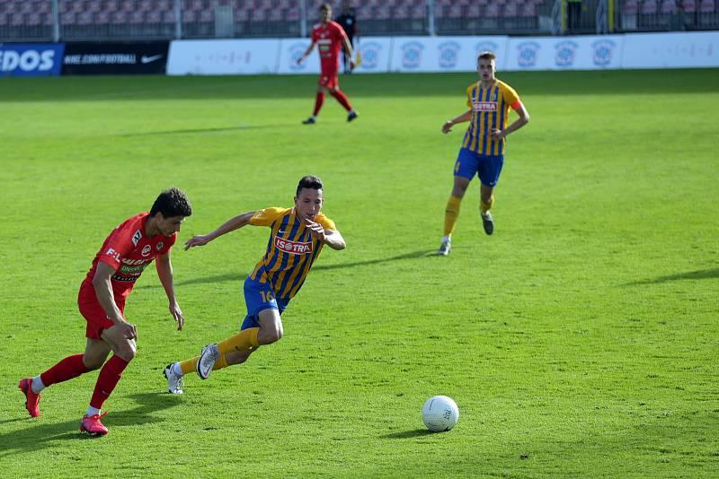 Fotbalový zápas mezi brněnskou Zbrojovkou a SFC Opava