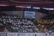 Utkání Tipsport extraligy Energie Karlovy Vary - Kometa Brno.