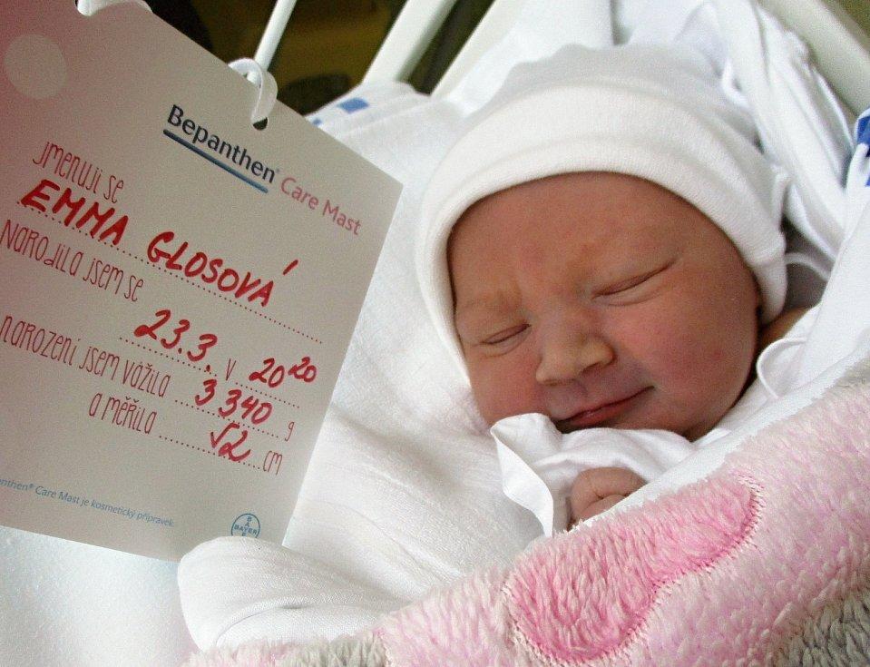 Emma Glosová, 23. 3. 2021, Nemocnice Břeclav, 3340 g, 52 cm
