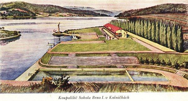 Sokolové areál odkoupili od armády. Chtěli vněm postavit loděnici a založit jachtařský oddíl. Tento záměr ale nevyšel, stejně jako představa oplaveckém bazénu.