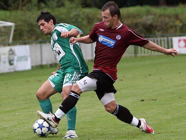 Fotbalové utkání mezi Bystrcí a Spartou.