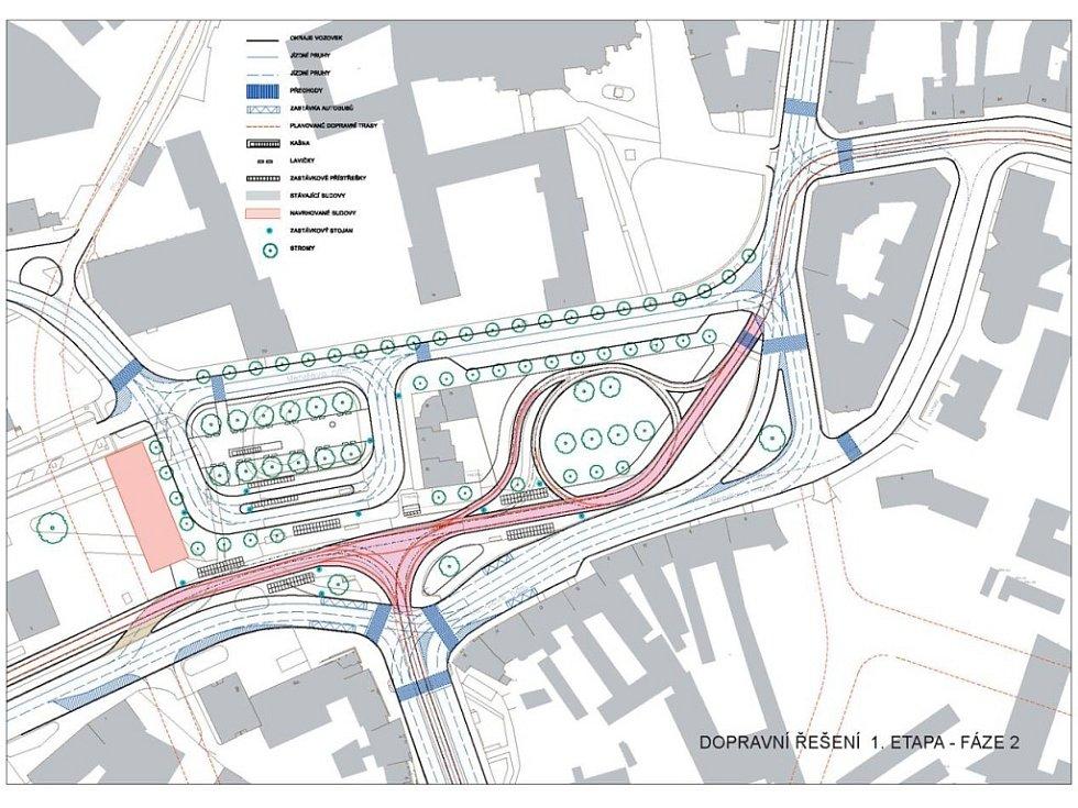 Dopravní řešení 1. etapa fáze 2.