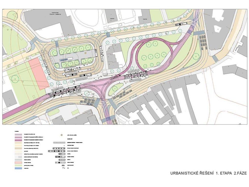 Urbanistické řešení 1. etapa fáze 2